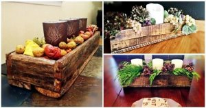 Rustic Pallet Centerpiece / Decorative Box
