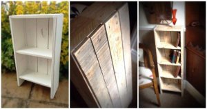 White Painted Pallet Bookcase