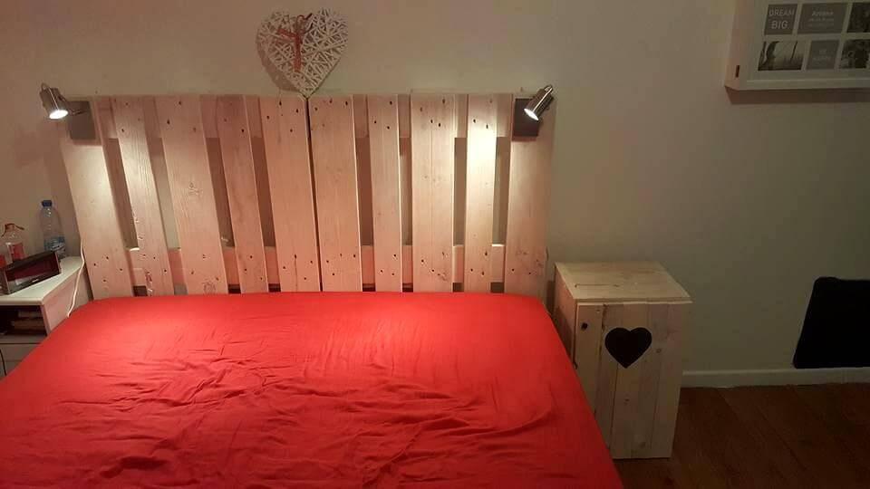 pallet bedside table