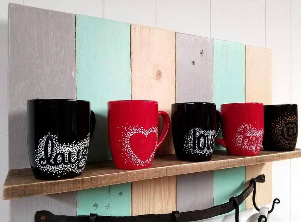 gorgeous pallet coffee mug rack