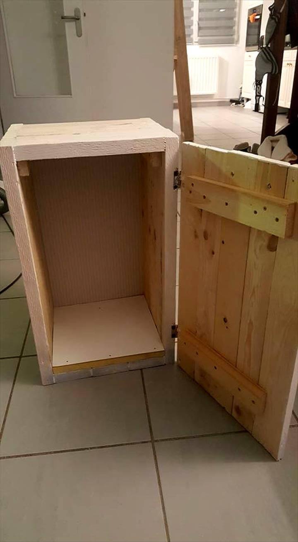 Diy pallet bedside table pallets pro for Diy bedroom table