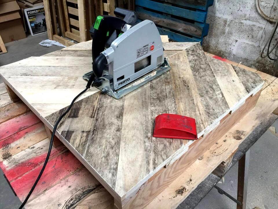 pallet chevron coffee table