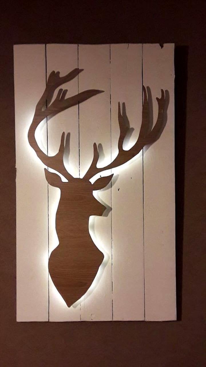 pallet deer art for walls