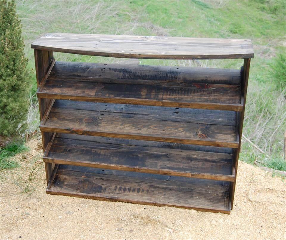 Wooden Pallet Entryway Shoe Rack Pallets Pro