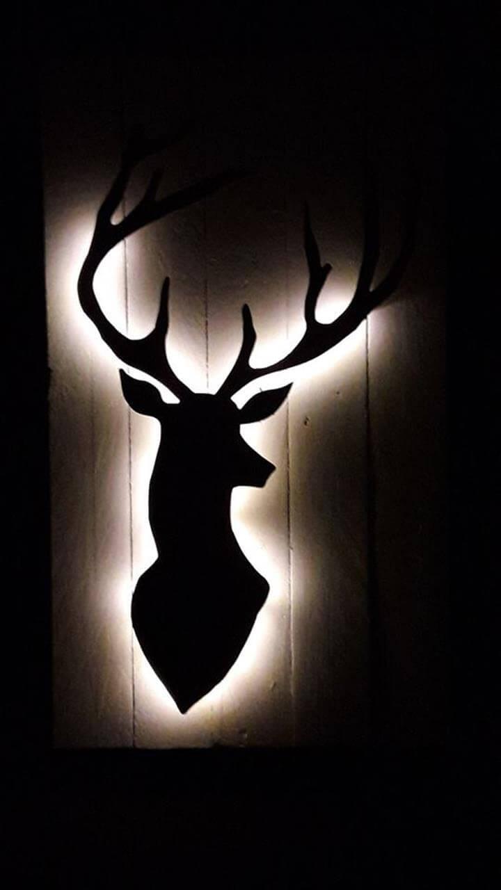 diy pallet deer art for walls