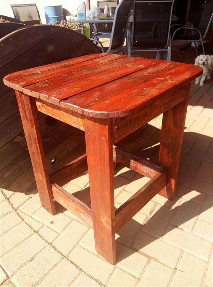 Diy pallet side table for outdoor pallets pro for Functional side table