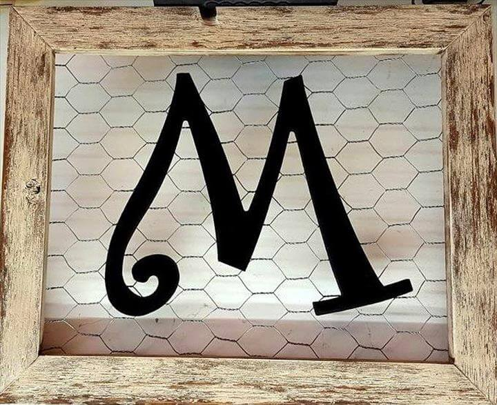 cute pallet monogram art