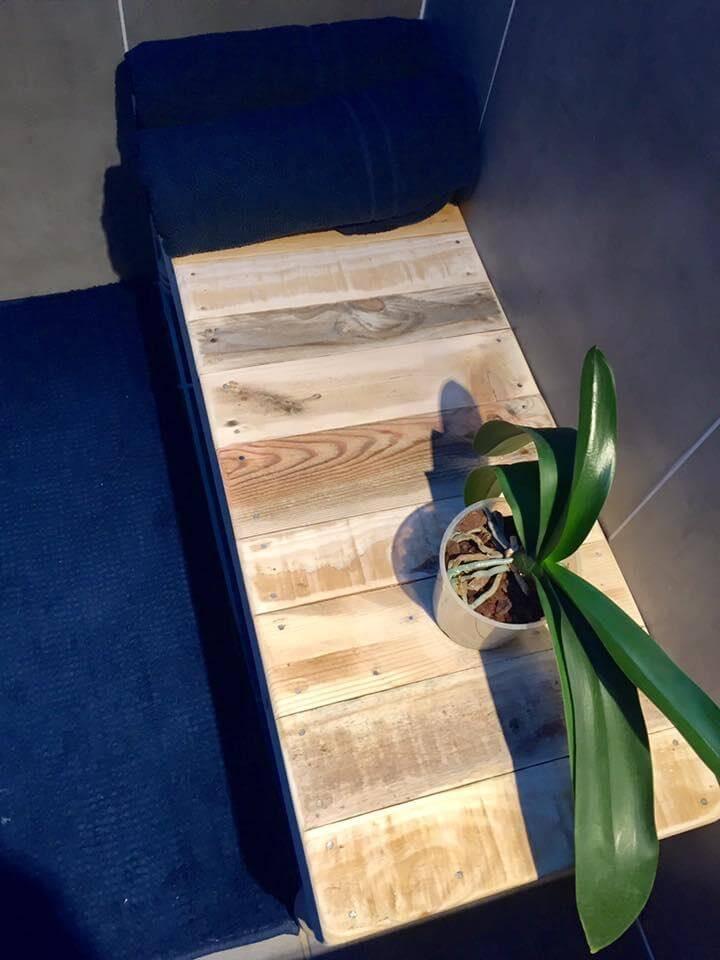 wooden pallet bathroom table