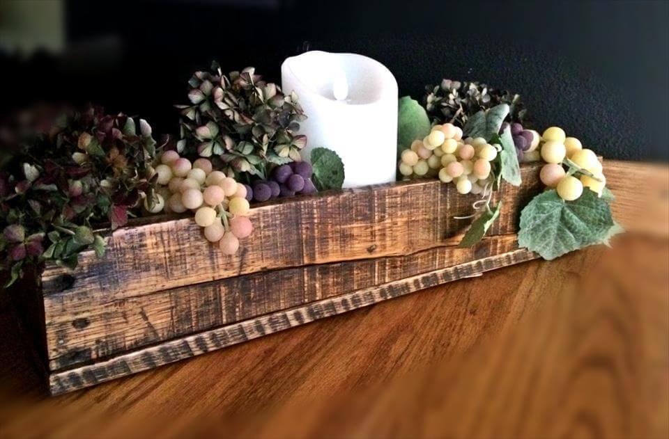 Rustic Pallet Centerpiece Decorative Box Pallets Pro