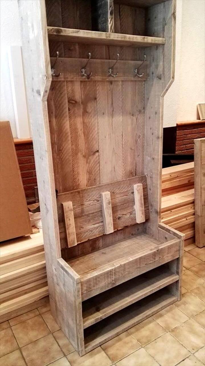 Wooden Shoe Bench