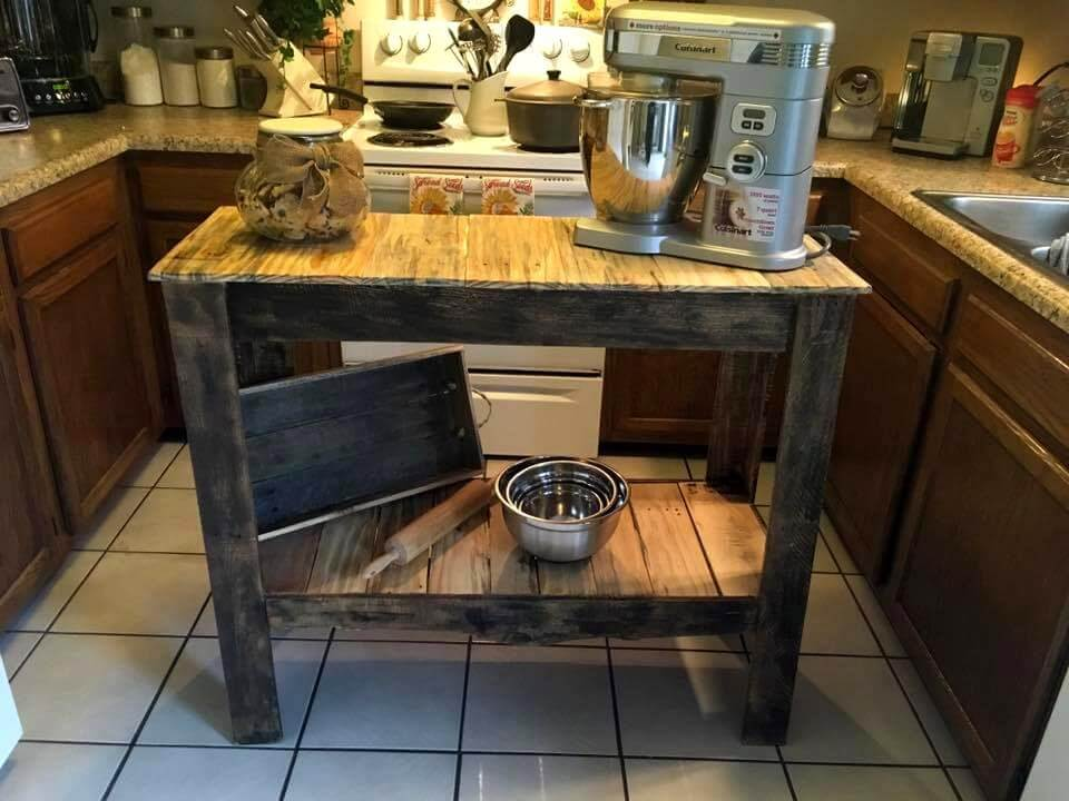 rustic pallet kitchen island table