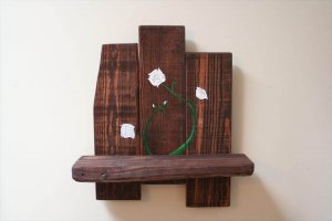 wooden pallet cute shelf