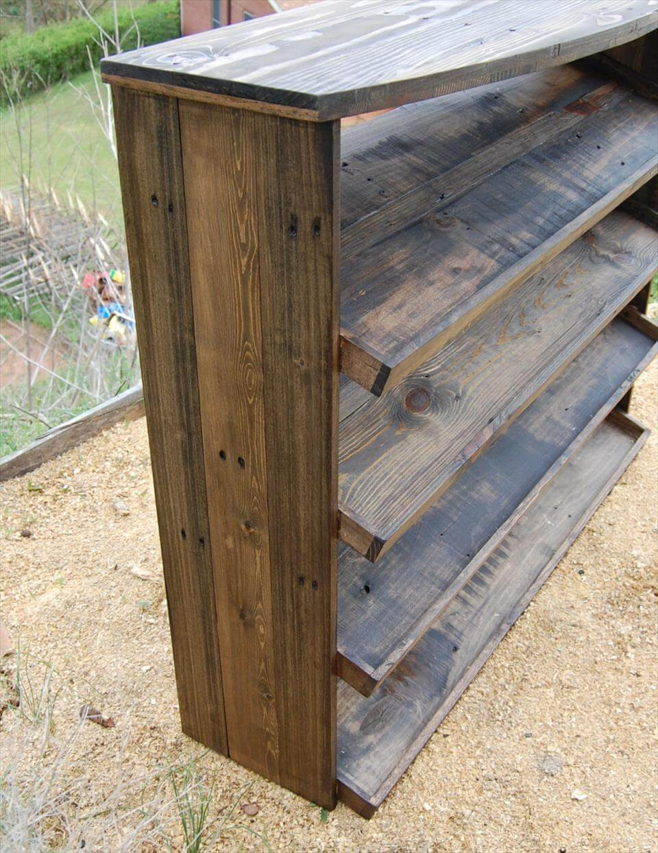 Pallet Entry Table Wooden Pallet Entryway Shoe Rack Pallets Pro