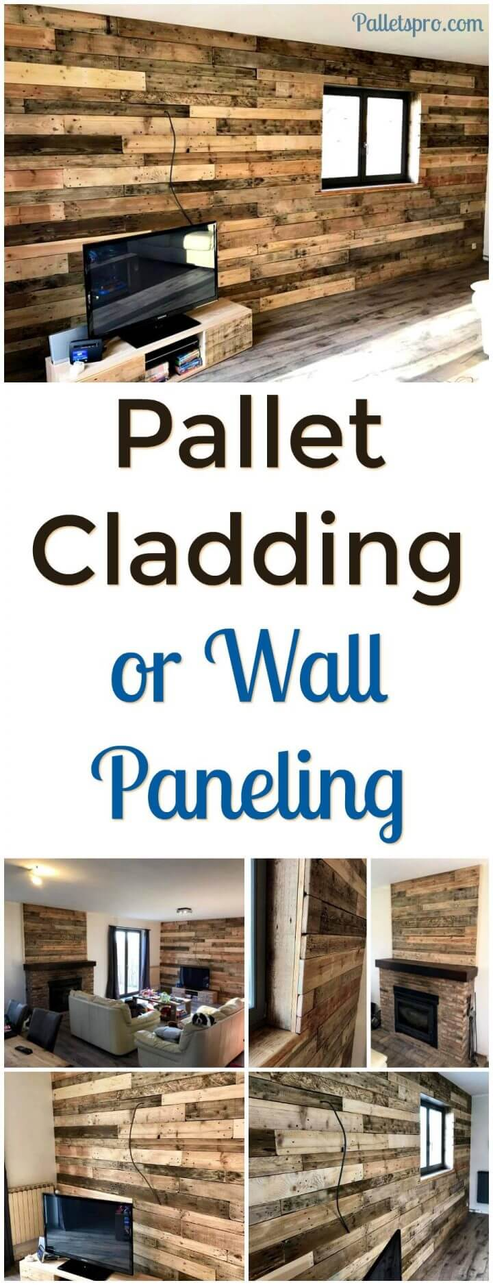 Diy Pallet Bathroom Wall Paneling: DIY Pallet Wall Paneling / Wall Cladding