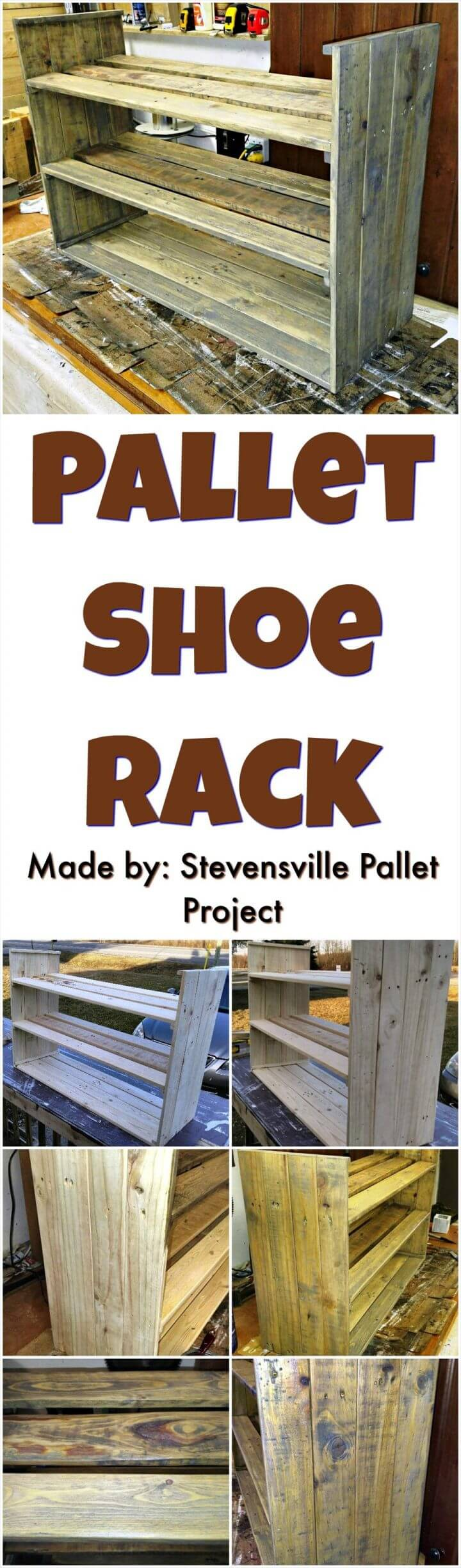 shoe rack from pallets