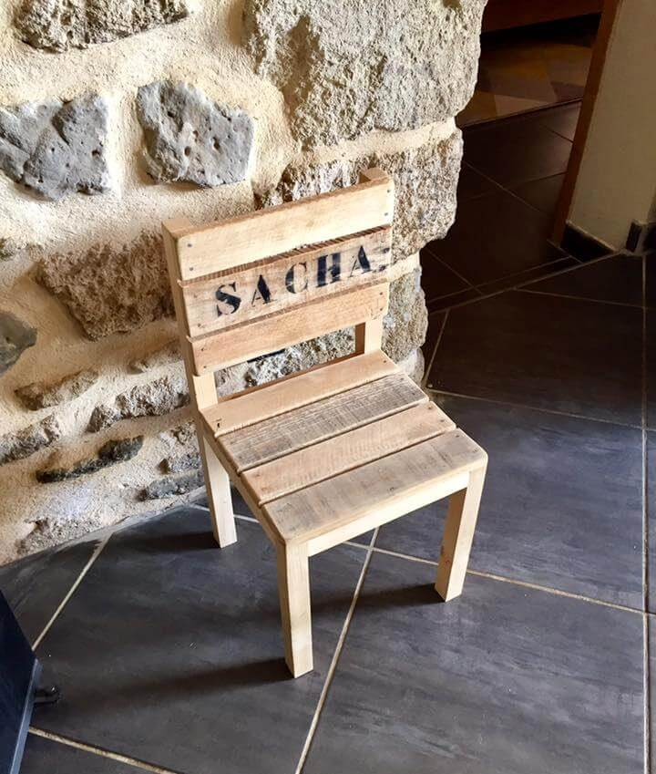 Diy Pallet Chair For Kid S Pallets Pro