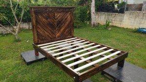 simple pallet bed frame