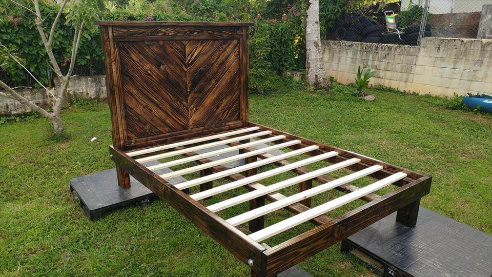 simple pallet bed frame
