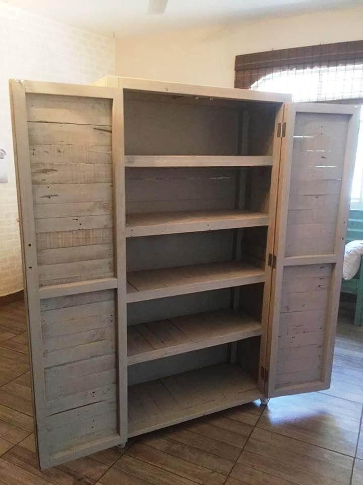 diy pallet cupboard