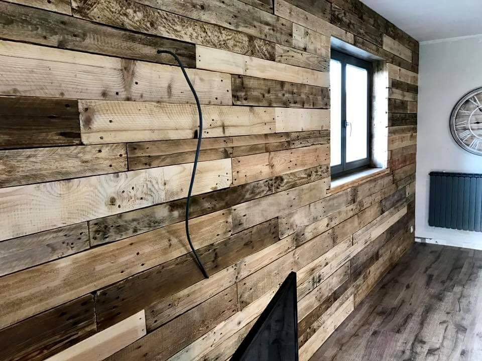 wooden pallet wall cladding