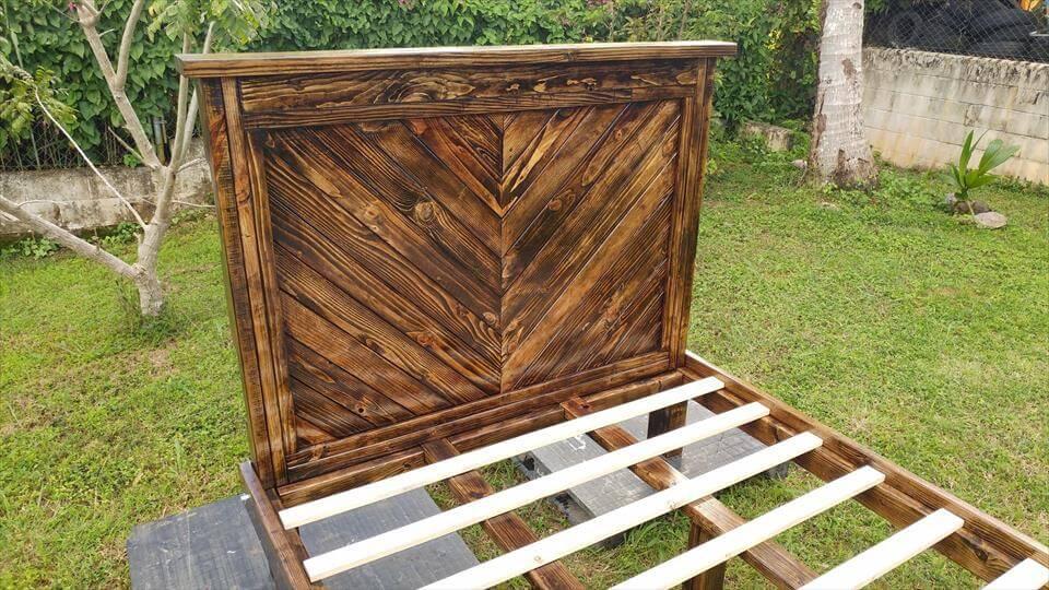 rustic pallet bed frame