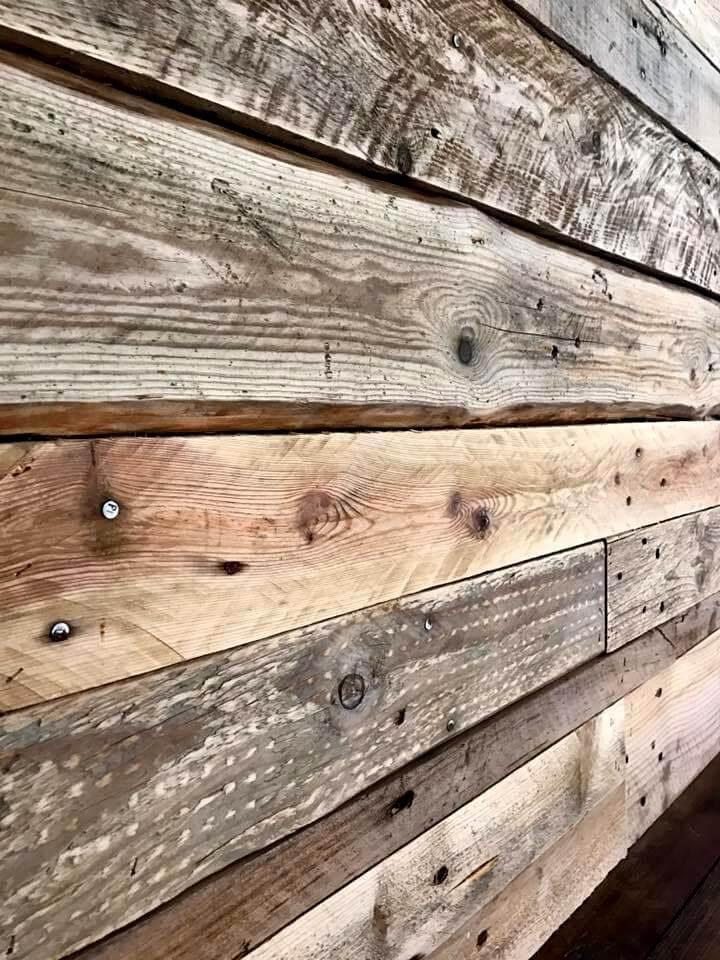 DIY Pallet Wall Paneling / Wall cladding - Pallets Pro