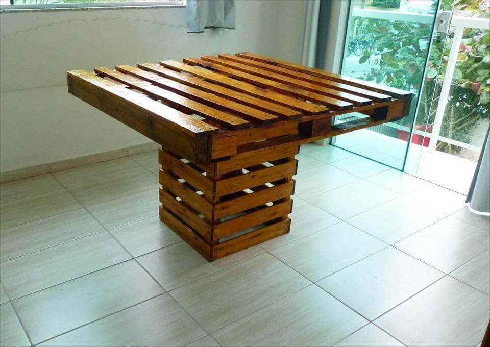 Square Top Pallet Dining Table - Pallets Pro on Pallet Design  id=24727