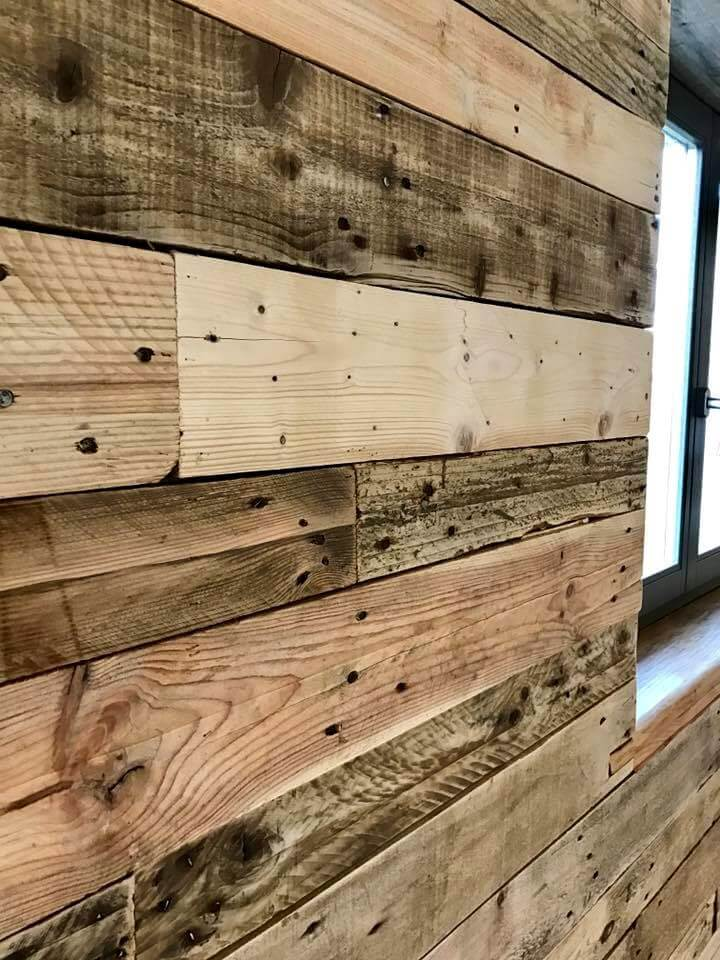 awesome pallet wall cladding