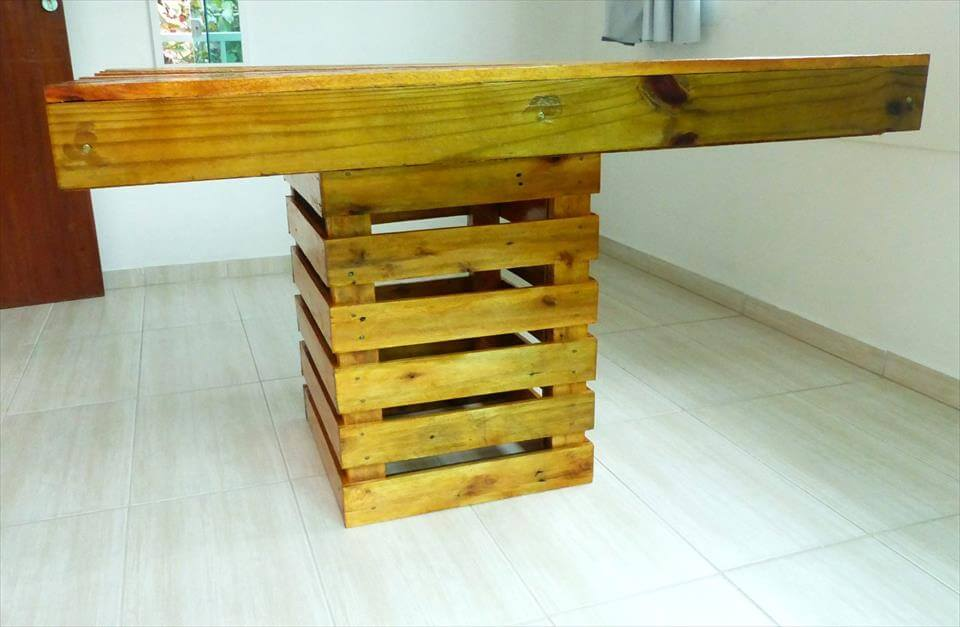 self made pallet dining table