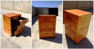 DIY Pallet Nightstand with Drawers