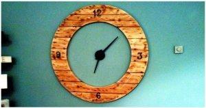 DIY Round Shape Pallet Clock