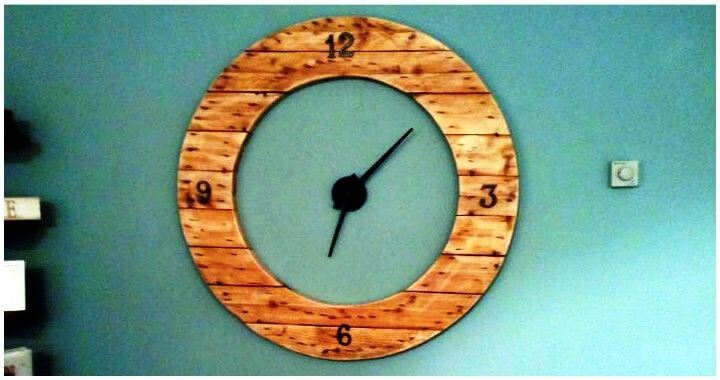 Diy Round Shape Pallet Clock Pallets Pro