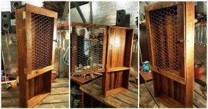 DIY Wood Pallet Kitchen Pantry