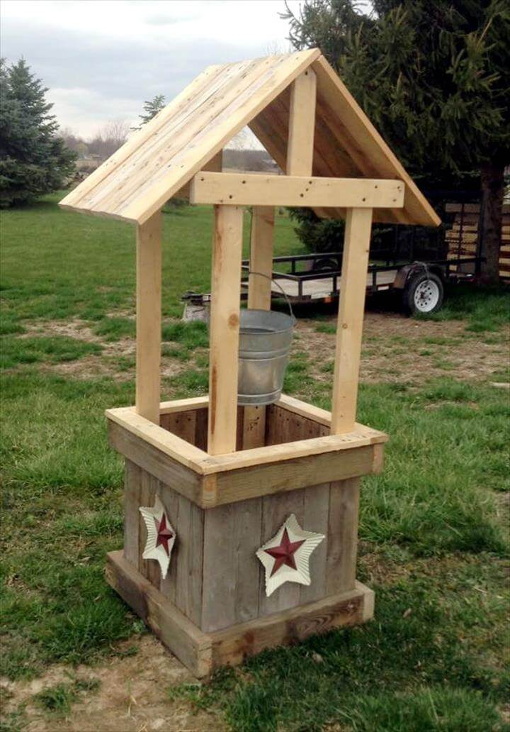 custom pallet garden wishing well