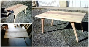 DIY Pallet Coffee Table with Arched Legs
