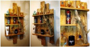 DIY Pallet Shelf for Toiletry