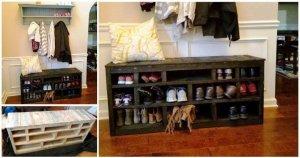 DIY Wooden Pallet Shoe Rack