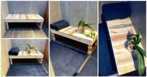 DIY Pallet Bathroom Bench / Table