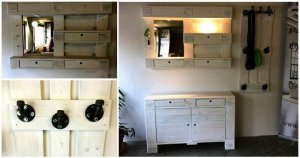 Pallet Chest of Drawers and Coat Rack / DIY Mirror