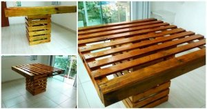 Square Top Pallet Dining Table