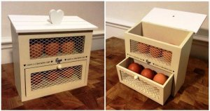 DIY Pallet Egg Holder