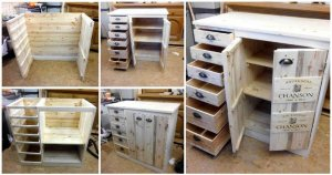 Pallet Chest of Drawers with Side Cabinet Tutorial