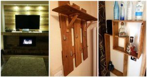 DIY Pallet Shelf Designs and Wall Paneling Project