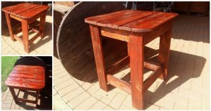 Pallet Side Table for Outdoor