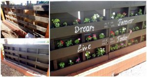 DIY Pallet Vertical Planter and Seating Set for Garden