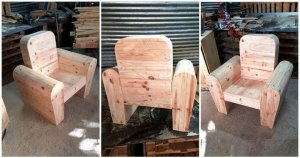 Upcycled Pallet Chair for Kids