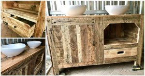 Pallet Bathroom Cabinet Designs